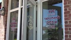 The Walking Dead Cafe in Senoia Georgia Stock Footage