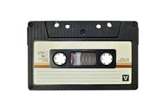 Cassette tape, isolated on white Stock Photos