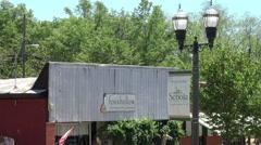 Beautiful stores in Senoia Georgia Stock Footage