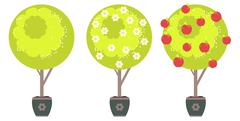 Abstract Apple Tree Stock Illustration