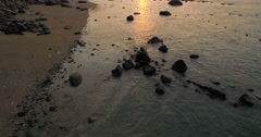 Sunset At Tropical Beach Resort In Thailand - stock footage