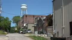 The Historic Main Street of Senoia Georgia Stock Footage