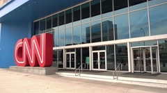 CNN Headquarter in Downtown Atlanta Stock Footage