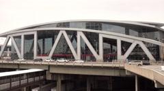 Big Atlanta letters at Philips Arena in Downtown Atlanta - stock footage