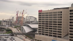 Atlanta Downtown - the CNN Headquarter - stock footage