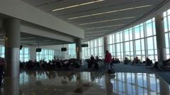 Terminal at Hartsfield–Jackson Atlanta International Airport Stock Footage