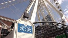 Skyview Atlanta Ferris Wheel at Centennial Olympic Park Stock Footage