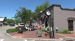 Typical street view of Main Street Senoia Georgia Stock Footage