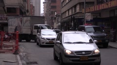 Busy intersection in El poblado, Medellin (2) Stock Footage