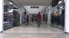 Entrance to a mall in El Poblado, Medellin Stock Footage