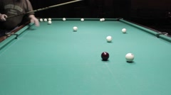 Billiard training Stock Footage