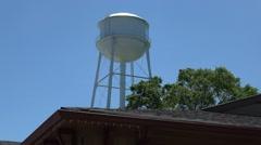 Water Tower of Senoia Georgia Stock Footage