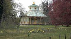 06 Chinese Tea House, Sanssouci park Stock Footage