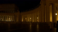 4k Saint Peter Cathedral in Rome at night holidays destination church relition Stock Footage