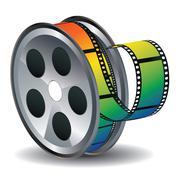 Movie Reel Icon - stock illustration