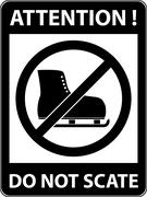 No ice skate, ice-skate prohibited symbol. Vector - stock illustration