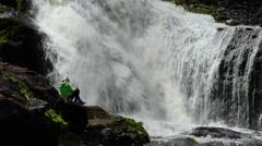 Flatrock Falls Newfoundland Stock Footage
