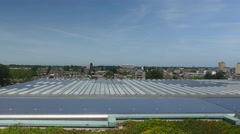 Largest solar powered roof, central station in Rotterdam. Stock Footage