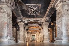 Ellora caves, Aurangabad Stock Photos