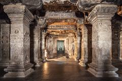 Ellora caves, Aurangabad - stock photo