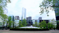 Areal view of la Defense - stock footage