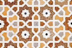 Detail of decorating the Taj Mahal - stock photo