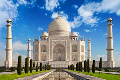 Taj Mahal in sunrise light Stock Photos