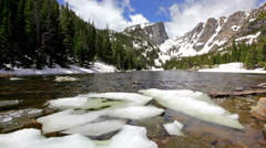 Dream Lake at the Rocky Mountain National Park Stock Footage