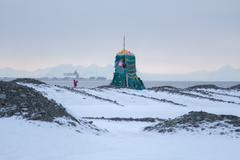 Showplace in Longyearbyen, Svalbard . Norway Stock Photos