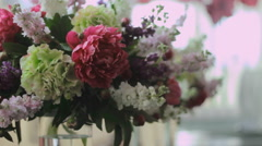 a bridal bouquet of flowers - stock footage