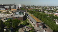 Panoramic view of Rotterdam with Het Nieuwe Instituut Stock Footage