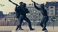 Budapest 1960s: socialist statues - stock footage