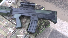 British Army SA80 Assault Rifle - stock footage