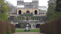 Potsdam, Sanssouci Orangery Palace, restoration works, Germany Stock Footage