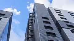 Modern architecture of high-riser Stock Photos