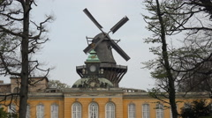 Potsdam, New Chambers and Windmill nearby Sanssouci palace, Germany Stock Footage