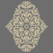 Elegant Ornament in the Style of Barogue - stock illustration