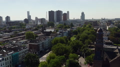 Skyline Rotterdam with Westersingel Stock Footage