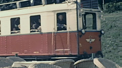 Hungary 1960s: tourist train Stock Footage