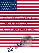 symbols of Independence Day - American Flag, Eagle - stock illustration