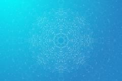 Geometric abstract mandala with connected line and dots. Graphic composition for Stock Illustration
