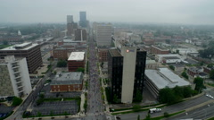Aerial of Downtown Lexington, KY Stock Footage