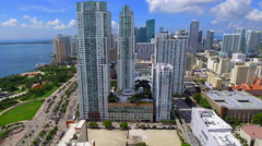 Miami tourism is booming aerial video Stock Footage