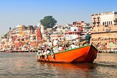 Varanasi ghats Stock Photos