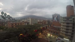 Timelapse of the sun setting over Medellin, Colombia Stock Footage