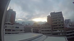 Time lapse of sun rising over the mountains of Medellin, Colombia Stock Footage