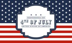 4th of July Independence day background Stock Illustration