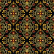 Rich floral ornament with damask. Piirros