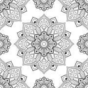 Oriental abstract ornament. Stock Illustration