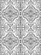Oriental, floral ornament. Stock Illustration